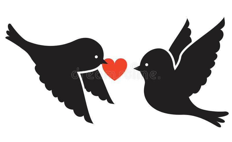 Zwei Vögel stock abbildung