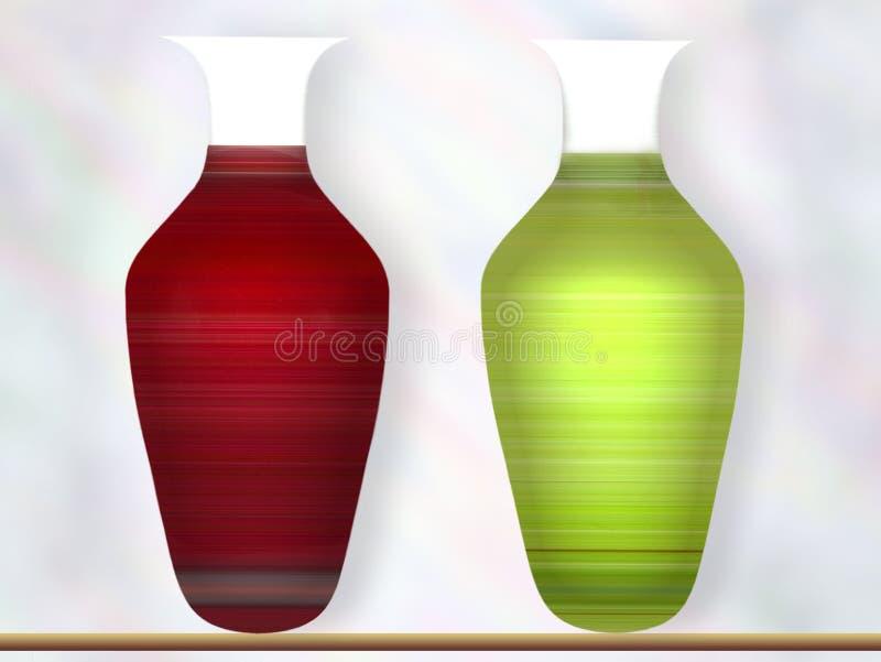 Zwei Vasen lizenzfreies stockbild