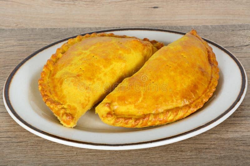 Zwei vegetarische Pasteten lizenzfreie stockfotos