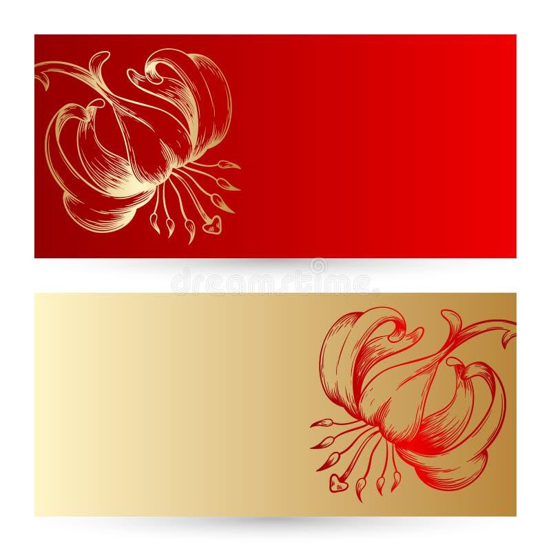Zwei Vektoreinladungskarten lizenzfreie abbildung