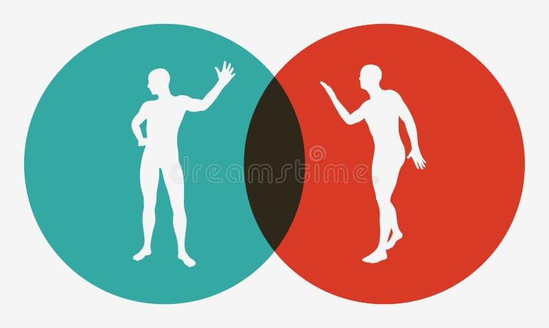 Zwei verärgerte Männer, die mit einander argumentieren Elemente dieses Bildes werden von der NASA geliefert Hartes Gespräch vektor abbildung