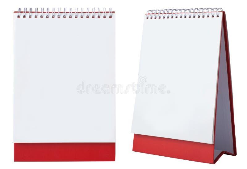 leerer Kalender stockfoto