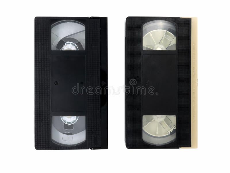 Zwei Videokassetten lizenzfreie stockfotos