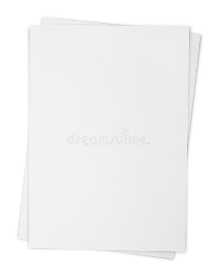 Zwei Weißbuchblätter lizenzfreie abbildung