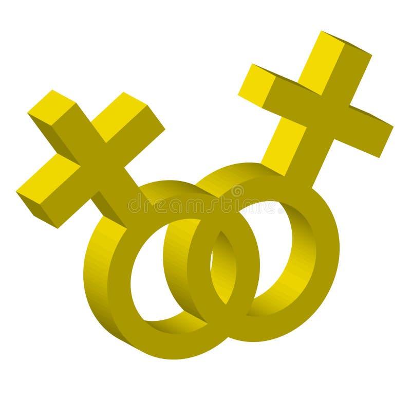 Zwei weibliche Symbole lizenzfreie abbildung