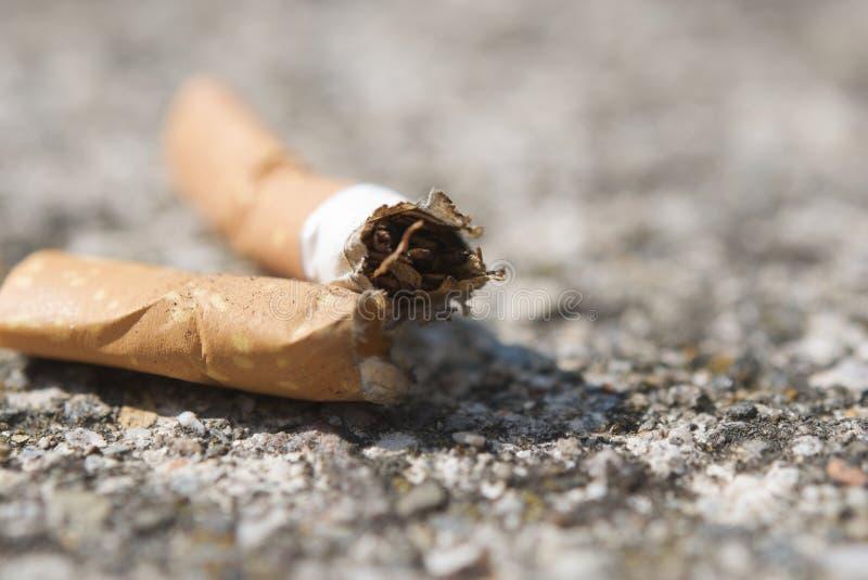 Zwei Zigarettenfilter verlassen aus den Grund stockbilder