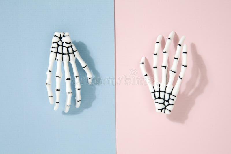 Zweifarbige Skeletthand lizenzfreies stockbild