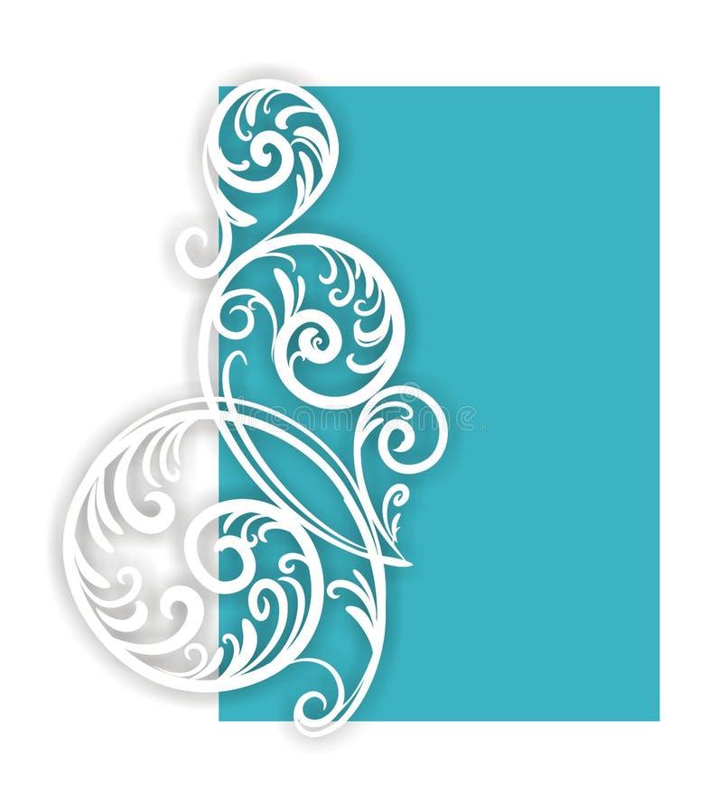 Zweig-wirbeln Sie auf Blau. lizenzfreie abbildung