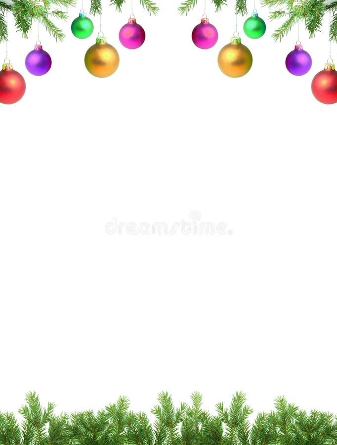 Zweige mit einem Weihnachtsspielzeug lizenzfreie stockfotografie