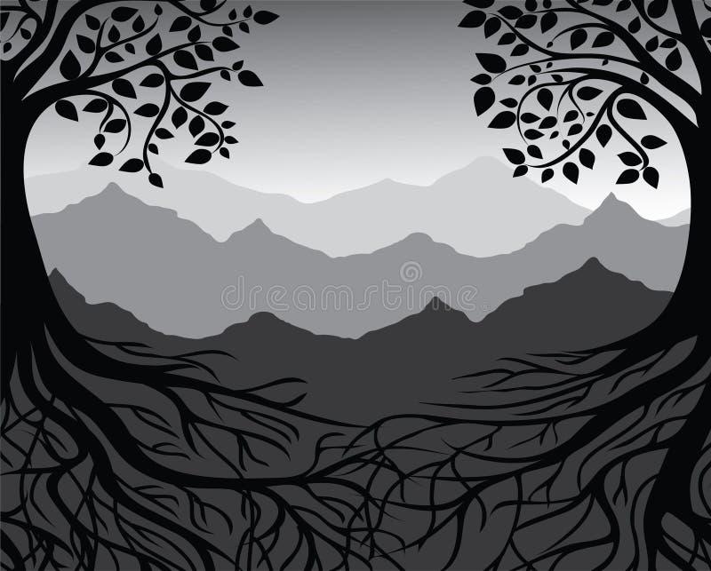 Zweige und Wurzeln lizenzfreie abbildung