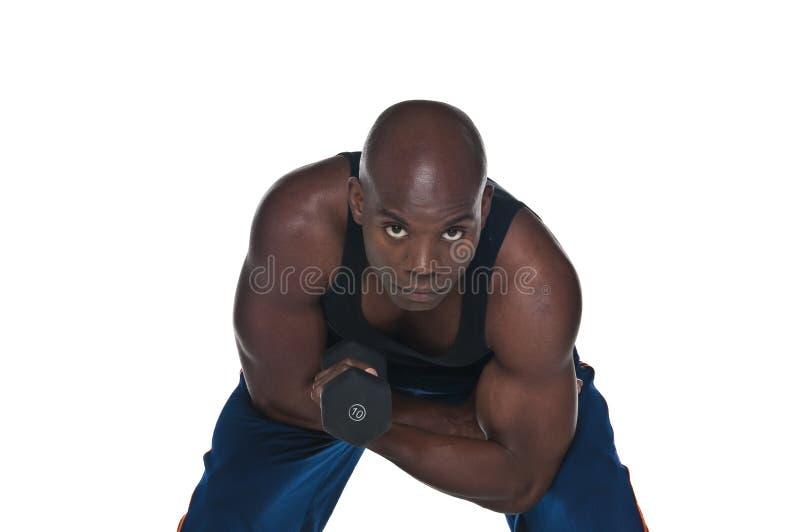Zweiköpfiger Muskel Excersice stockbilder