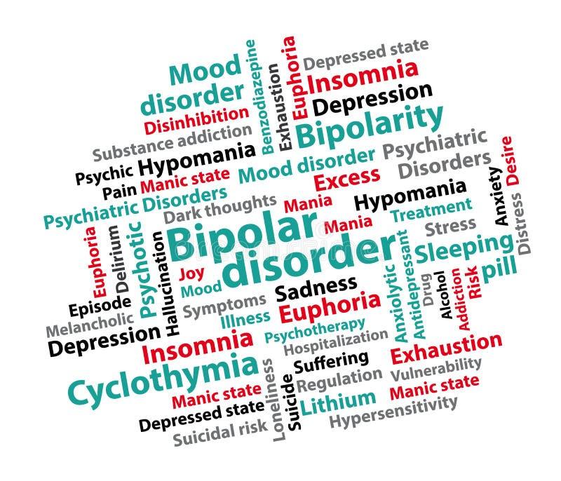Zweipolige Störung Hintergrund der psychiatrischen Störung lizenzfreie abbildung