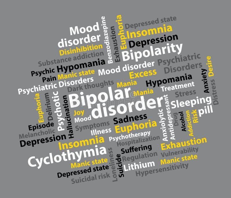 Zweipolige Störung Hintergrund der psychiatrischen Störung stock abbildung