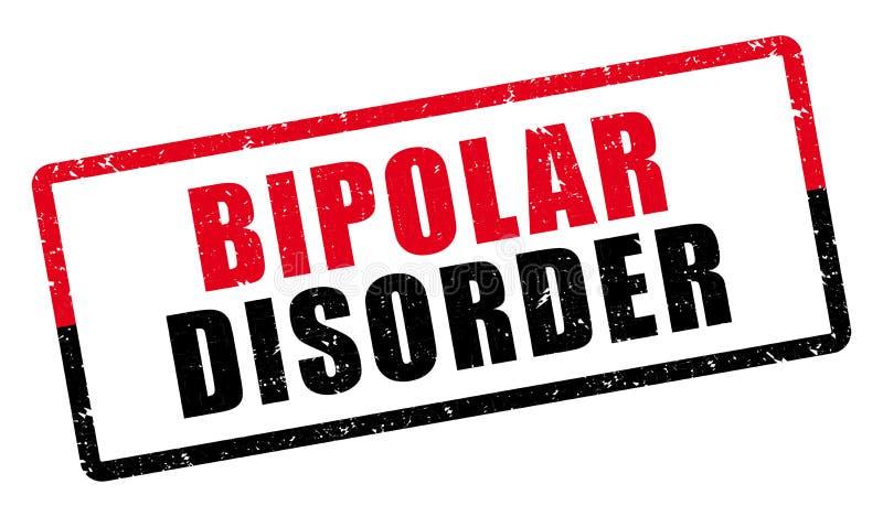Zweipolige Störung Psychiatrischer Diagnosenstempel lizenzfreie abbildung