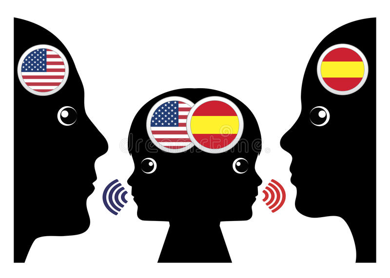 Zweisprachige Kindererziehung stock abbildung