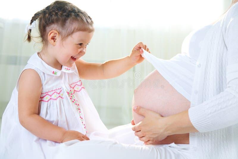 Zweite Schwangerschaft lizenzfreies stockfoto