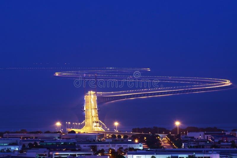 An zweiter Stelle Penang-Brücke lizenzfreies stockfoto