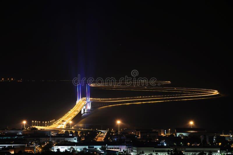 An zweiter Stelle Penang-Brücke lizenzfreie stockbilder
