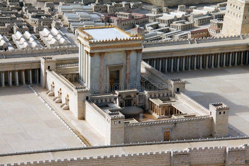 Zweiter Tempel. Baumuster des alten Jerusalems. lizenzfreie stockfotografie