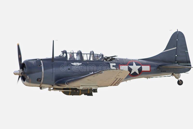 Zweiter Weltkrieg Dauntless Tauchen-Bomber Flugzeuge stockfotografie