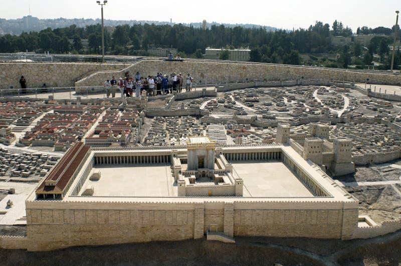 Zweites Tempel-Baumuster, Jerusalem stockbilder