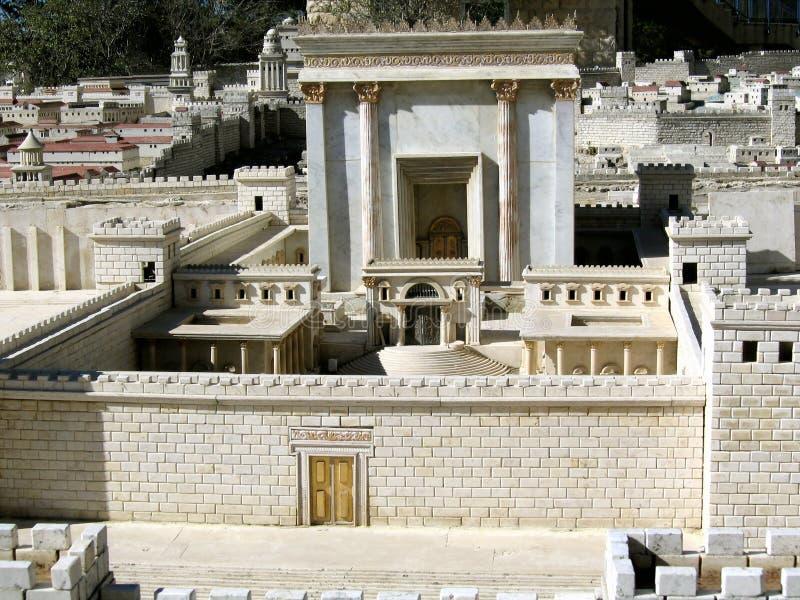 Zweites Temple.Model von altem Jerusalem lizenzfreie stockfotografie