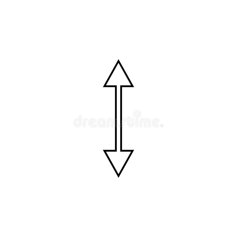 Zweiwegpfeilikone Dünne Linie Ikone für Websitedesign und Entwicklung, APP-Entwicklung Erstklassige Ikone stock abbildung