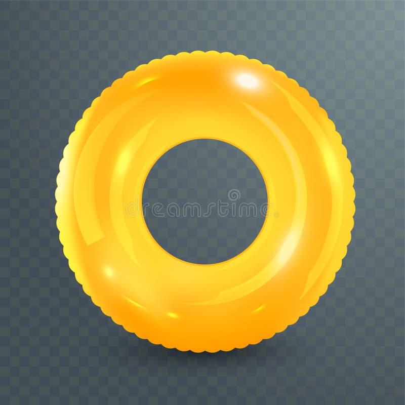 Zwem ring Opblaasbaar rubberstuk speelgoed Realistische zomerillustratie De zomervakantie of het punt van de reisveiligheid Hoogs stock illustratie