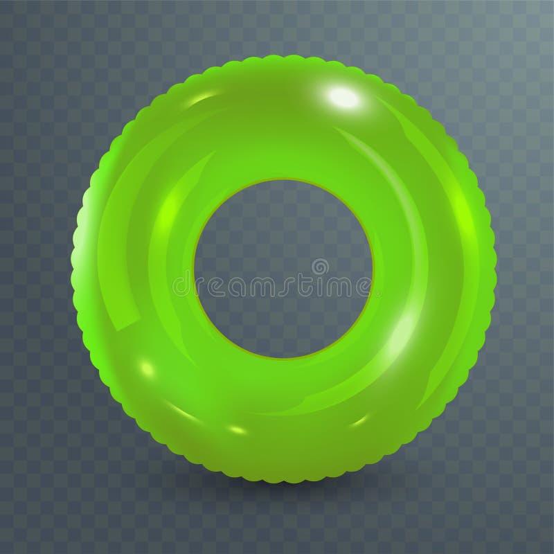Zwem ring Opblaasbaar rubberstuk speelgoed Realistische zomerillustratie De zomervakantie of het punt van de reisveiligheid Hoogs vector illustratie