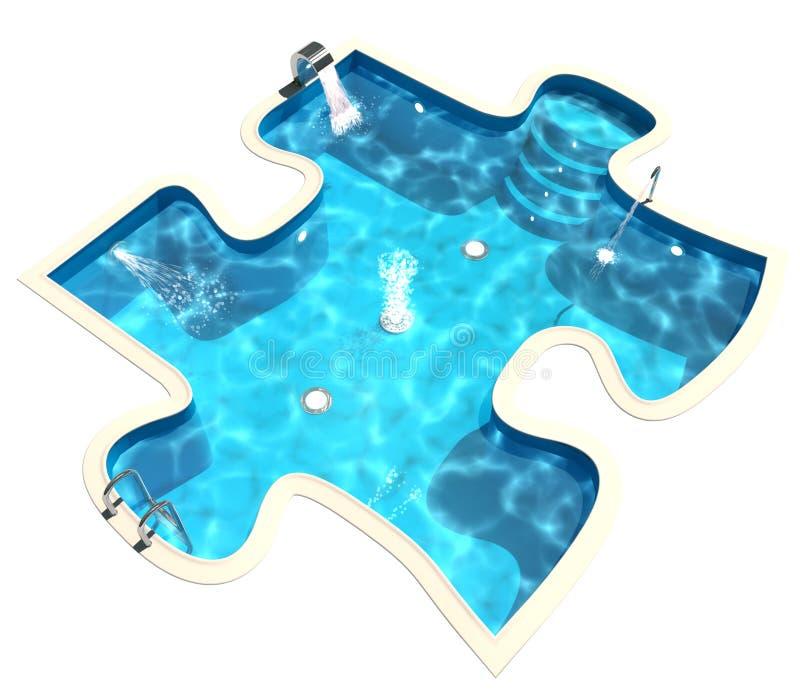 Zwembad. 3d geef terug vector illustratie