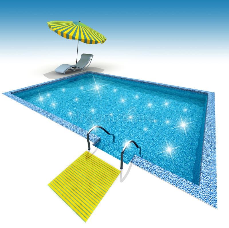 Zwembad royalty-vrije illustratie