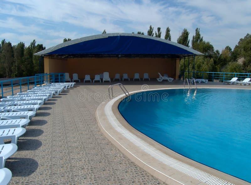 Zwembad royalty-vrije stock afbeelding