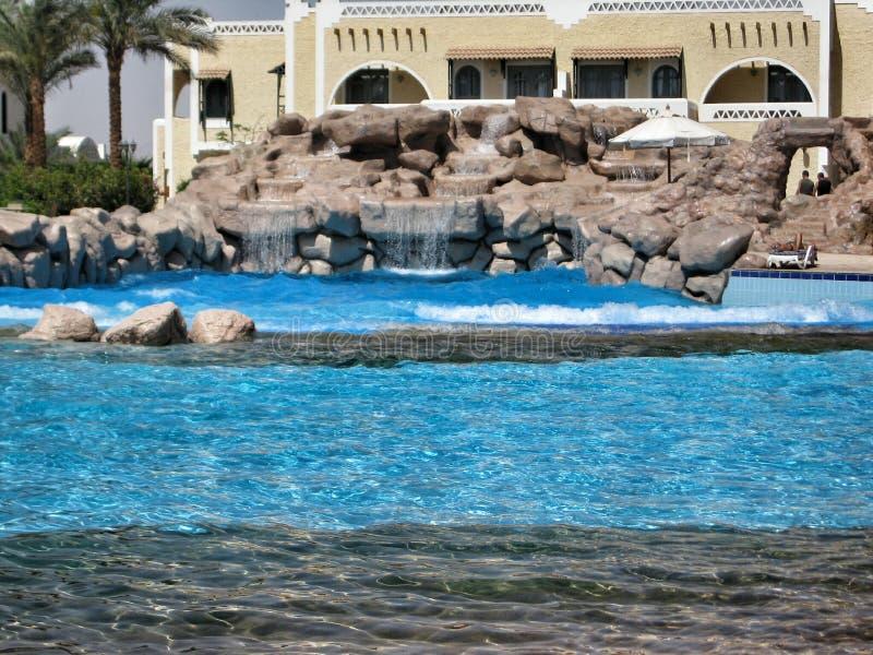 Zwembad in club Gr Faraana royalty-vrije stock foto's