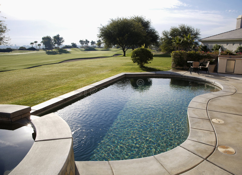 Zwembad, Flagstone Spa royalty-vrije stock fotografie