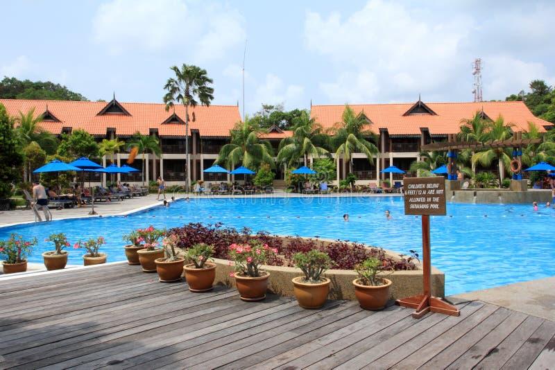 Zwembad in toevlucht royalty-vrije stock foto