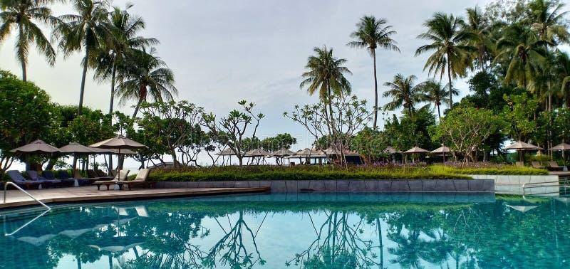 Zwembad in toevluchtmening royalty-vrije stock foto