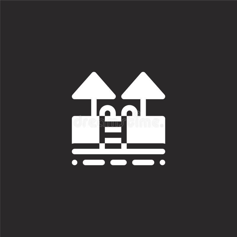 Zwembadpictogram Gevuld zwembadpictogram voor websiteontwerp en mobiel, app ontwikkeling zwembadpictogram van gevuld water vector illustratie