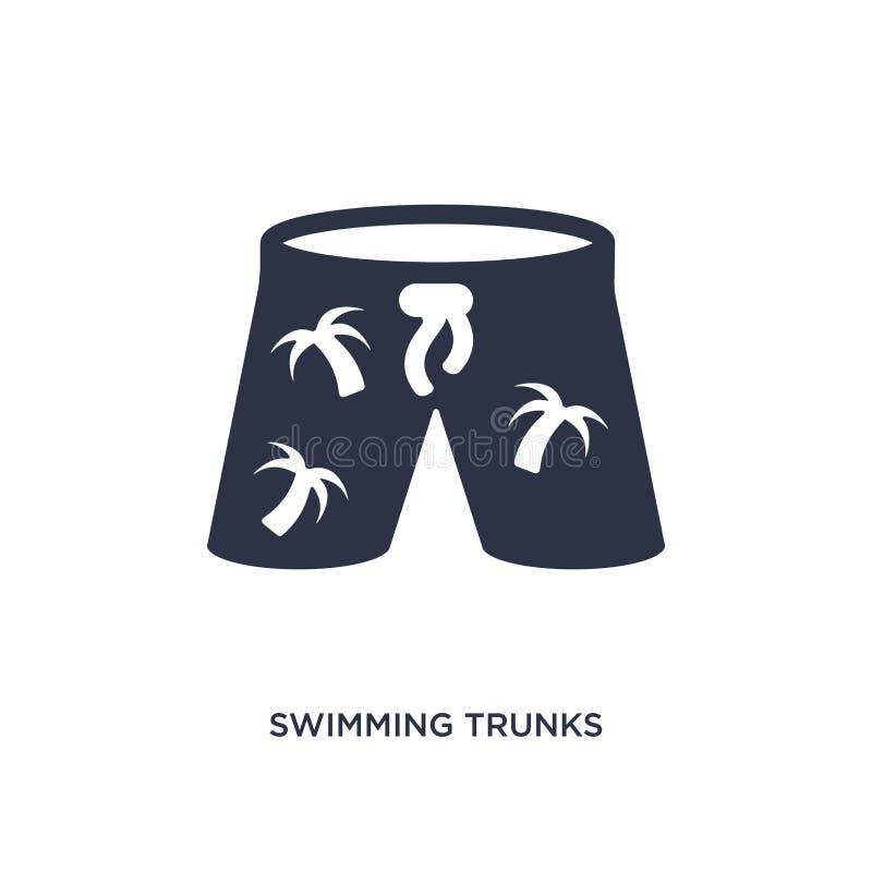 zwembroekpictogram op witte achtergrond Eenvoudige elementenillustratie van de zomerconcept stock illustratie