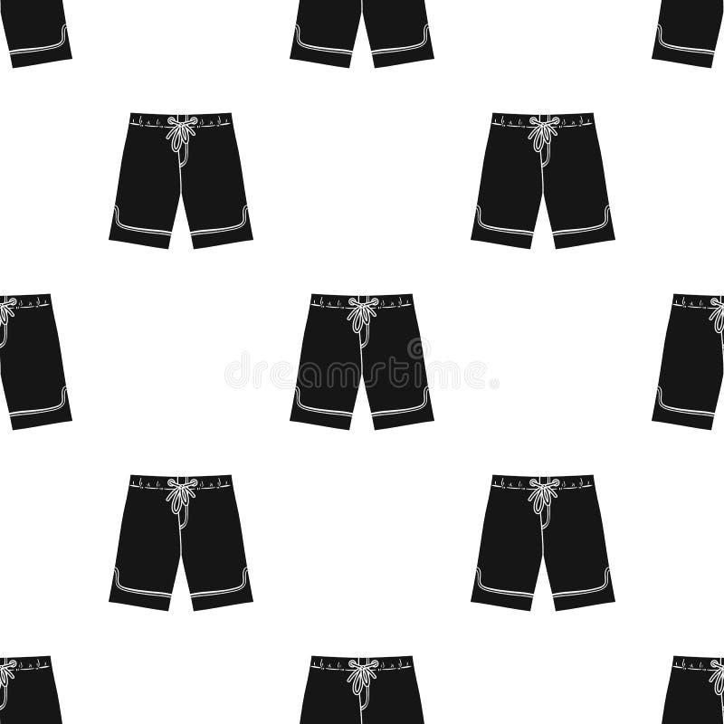 Zwembroekpictogram in zwarte die stijl op witte achtergrond wordt geïsoleerd Het surfen de vectorillustratie van de symboolvoorra royalty-vrije illustratie