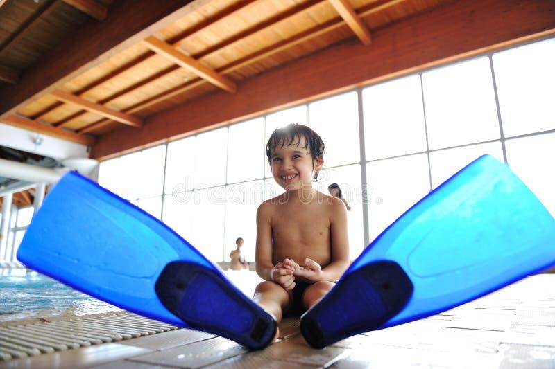 Zwemmend jong geitje royalty-vrije stock foto