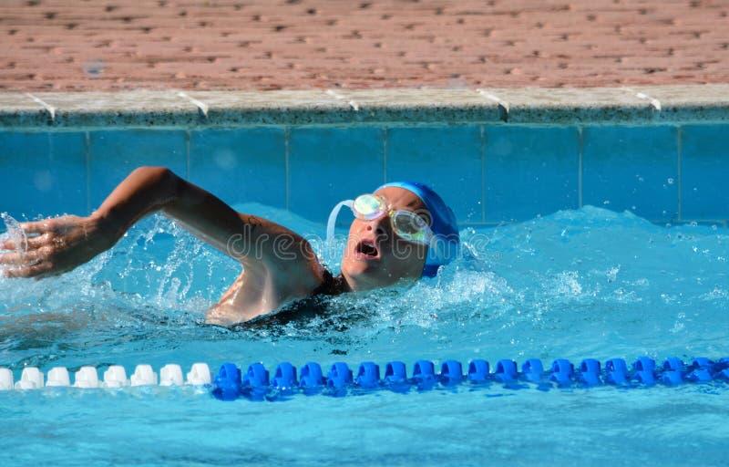 Zwemmende atleet stock afbeeldingen
