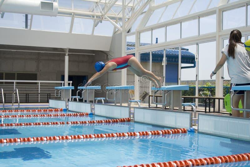 Zwemmende klasse 1 royalty-vrije stock foto's