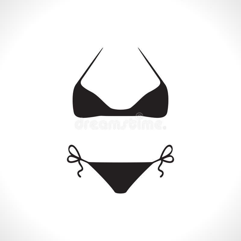 Zwempakken of Bikinipictogram royalty-vrije illustratie