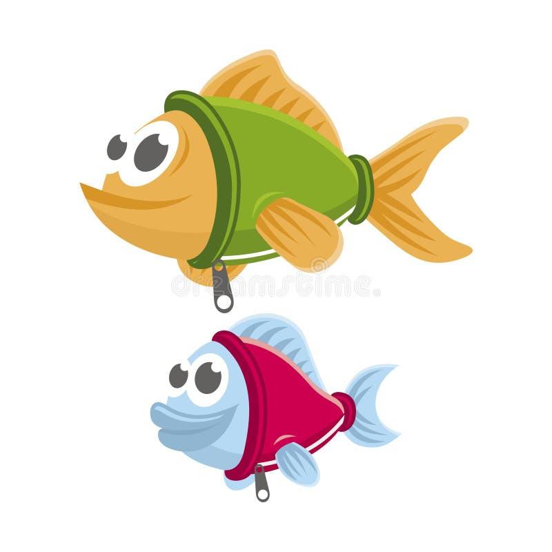 Zwempakvissen royalty-vrije stock afbeeldingen