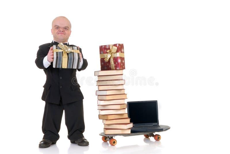 Zwergartiges Internet-Einkaufen stockfotos