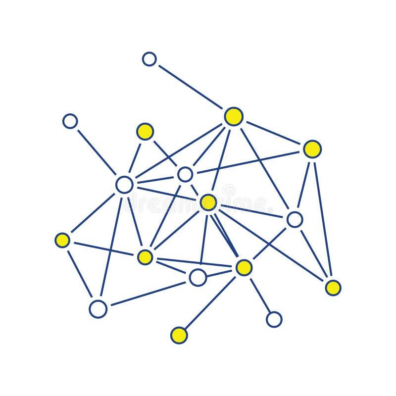 Związek netto ikona royalty ilustracja