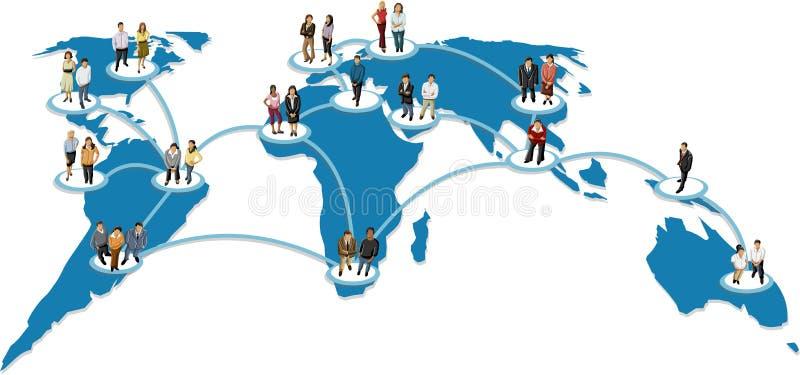 Ogólnospołeczna sieć. ilustracji