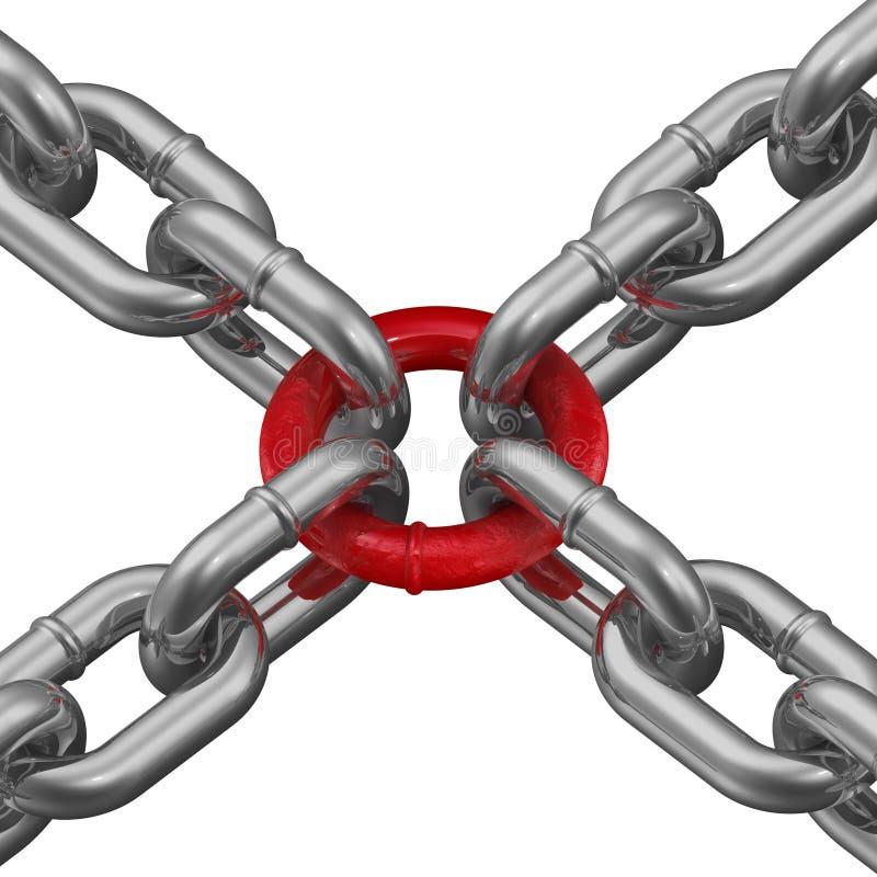 Związek łańcuchy słaby link ilustracji