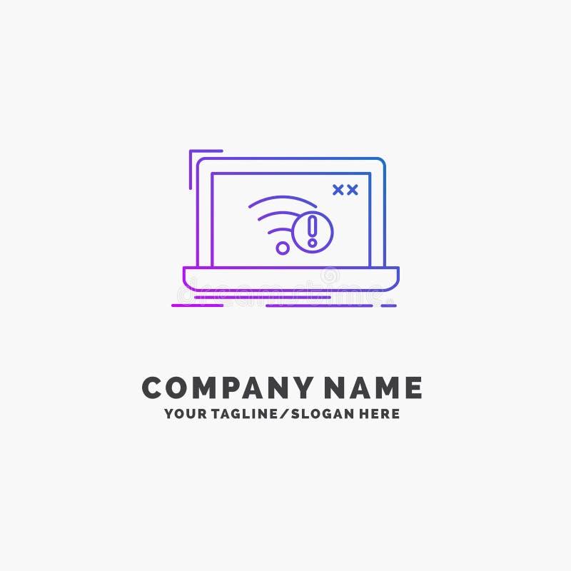 związek, błąd, internet, gubjący, interneta logo Purpurowy Biznesowy szablon Miejsce dla Tagline royalty ilustracja