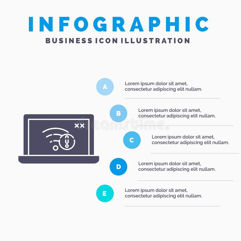 związek, błąd, internet, interneta Infographics szablon dla strony internetowej i prezentacja, gubjący, glif Szara ikona z b??kit ilustracja wektor